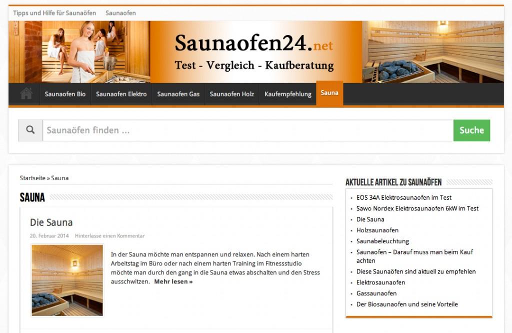 Saunaofen Test